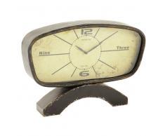 Reloj de mesa vintage de metal con efecto envejecido Diám. 46 cm ADAM