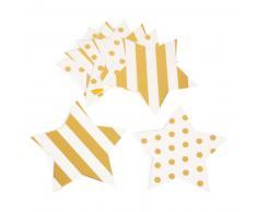 10 posavasos de cartón dorados ÉTOILES