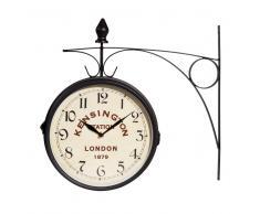 Reloj de pared de metal negro KENSIGNTON