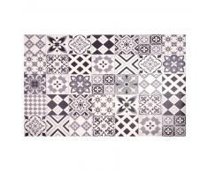 Alfombra de vinilo con motivos de azulejos de cemento 100x150