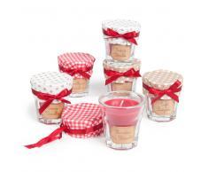 Juego de 6 velas perfumadas rojas Al. 6 cm VITRINE CHOCOLAT