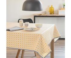 Mantel engomado de algodón amarillo 140 x 140cm MALVEIRA