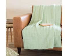 Colcha de algodón verde 240 x 270 cm LETICIA