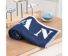Toalla de baño azul de algodón 30 × 50cm OCÉAN
