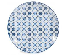 Plato llano de porcelana azul D. 27 cm MYKONOS