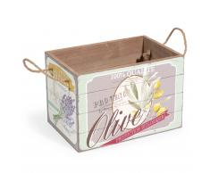 Caja de madera H 20 cm OLIVES