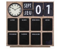 Reloj de imitación a madera y pizarra
