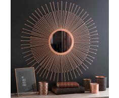 Espejo sol de metal cobrizo D 74 cm COPPER PADOVA