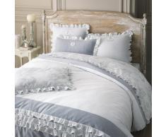 Juego de cama 240 x 260 cm de algodón blanco RAPHAEL