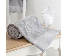 Toalla de manos gris de algodón 30 × 50cm HÔTEL