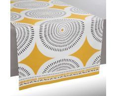 Camino se mesa de algodón amarillo/gris L 150 cm HELICONIA