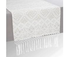 Camino de mesa con franjas de algodón An. 150cm PISE