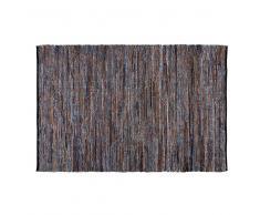 Alfombra de algodón con motivos de azulejos de cemento azules 160x230 cm BLOCALIA