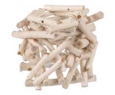 Candelabro de madera de alcanforero y cristal