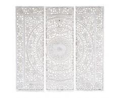 Lienzo tríptico de madera blanco 150 x 150cm ANDAMAN