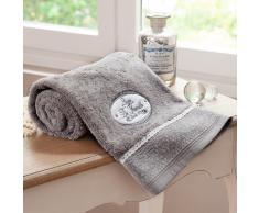Toalla de ducha gris de algodón 100 × 150 cm JEANNE