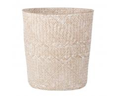 Cesta de fibra vegetal blanqueada para la ropa