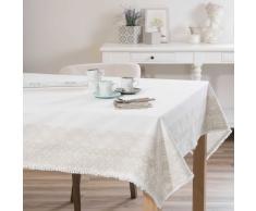 Mantel de algodón blanco 150 × 250cm PISE
