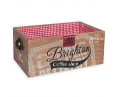 Caja de pan de madera y algodón BRIGHTON