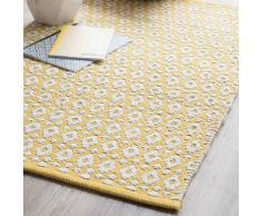 Alfombra de algodón amarilla 60 × 90cm LEIRIA