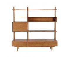 Estantería-mueble de TV de roble macizo Portobello