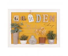 Cuadro con decoración de jardín con plantas artificiales 40x55