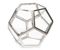 Candelabro de cristal y metal LUND