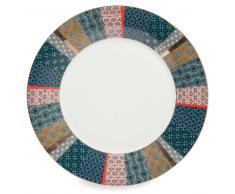 Plato llano de porcelana D 27 cm BOHO