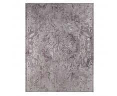 Lienzo gris con motivos jacquard 75x100