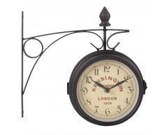 Reloj aplique de metal gris pizarra