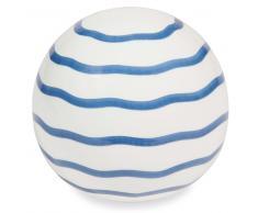 Bola decorativa a rayas de dolomita blanca y azul ESCALES