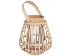 Candelabro de bambú H 16 cm COMODORO