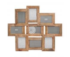 Marco para 9 fotos de madera 58 x 66 cm AYNA