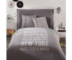Juego de cama 240 x 260cm de algodón gris STREET GRAPHIC