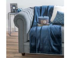Colcha suave azul 130 x 170 cm ÉLISE