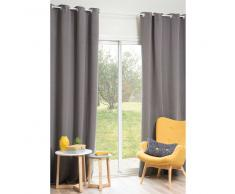 Cortina de tela gris 140 x 250cm YEP