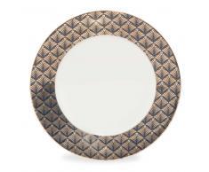 Plato de postre de porcelana negra D 20 cm MILORD