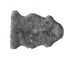 Alfombra gris de piel de oveja 55 × 90cm