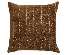 Cojín de tela marrón 45x45 cm TRONA