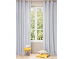 Cortina con ojales de lino lavado azul nube 140 x 300cm