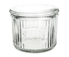 Tarro de sal de cristal transparente RETRO