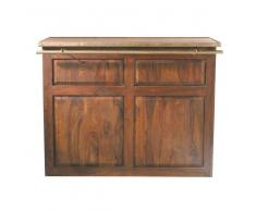 Mueble bar de madera maciza de palo rosa An. 132cm Lubéron