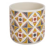 Macetero de cerámica con motivo de azulejos de cemento Alt. 13