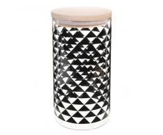 Tarro de cristal negro Al. 19cm TRIANGLES