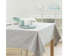 Mantel liso de algodón gris 150 x 250cm