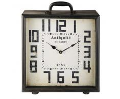 Reloj de sobremesa de metal negro WILLOW