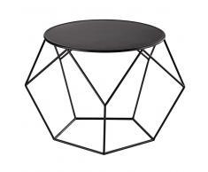 Mesa baja redonda de metal negra Prism