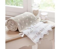 Toalla de tocador beis de algodón 50 × 100 cm SANS SOUCI