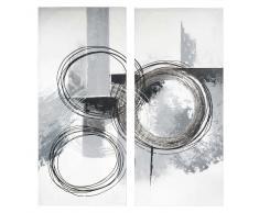 Lienzo díptico 80 x 90 cm ABSTRACT CIRCLE