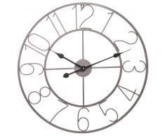 Reloj de metal gris D 60 cm WAILLY